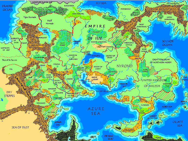 Maps of the Flanaess Greyhawk