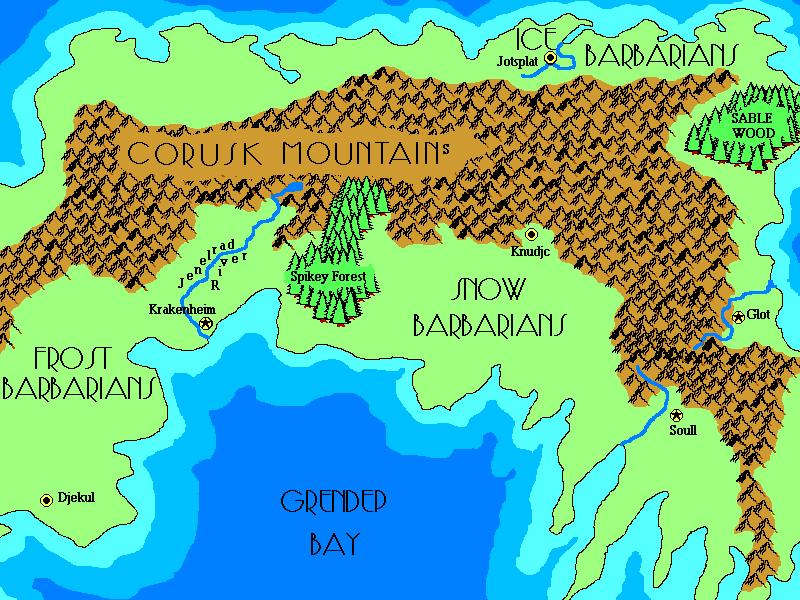 Map of Greyhawk Flanaess