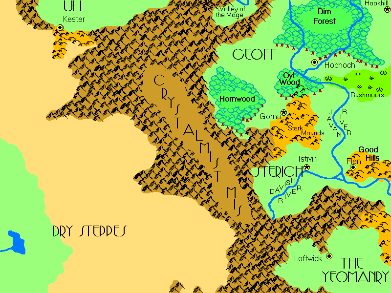 Map of Flanaess, pre Greyhawk Wars