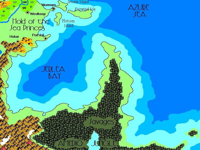 Map of Flanaess, pre Greyhawk Wars