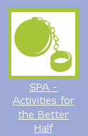 An icon of a ball and chain. It is labeled 'SPA - Activities for the Better Half'